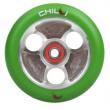 CHILLI Parabol 100 mm zeleno / strieborné koliesko