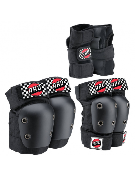 RAD Multi Ochrana Skate Pads 3-pack (L | Černá)