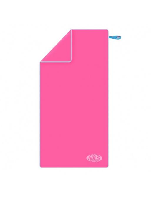 Ručník z mikrovlákna NILS Camp NCR11 růžový/modrý