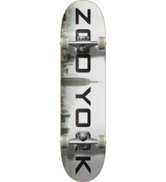 "Zoo York Logo Block Complete Skateboard (7.75""   Fog)"