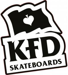 Samolepka KFD Logo Černá