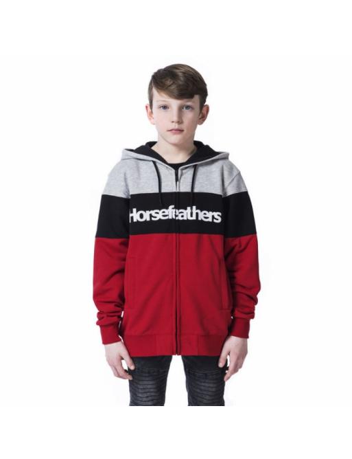 Mikina Horsefeathers Trevor lava red 2020 dětská vell.XL