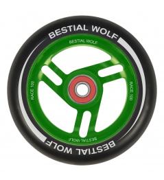 Bestial Wolf Race 100 mm koliesko čierno zelené