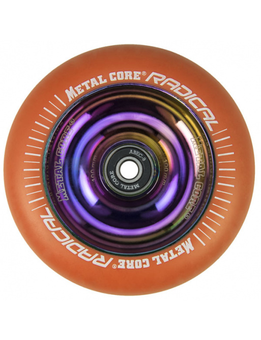 Metal Core Radical Rainbow 110 mm koliesko oranžové