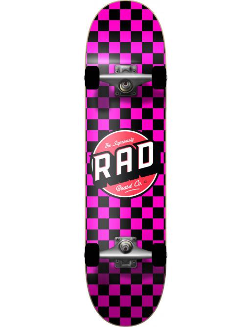 "RAD Checkers Skateboard Komplet (7.75""   Checkers Pink)"