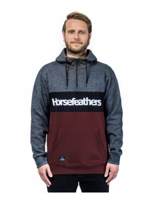 Mikina Horsefeathers Riggs raisin 2020/21 vell.XL