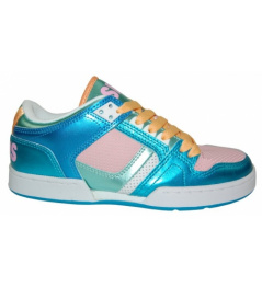 Boty Osiris NYC 83 LOW 10 W.blue/pink/white vell.UK6