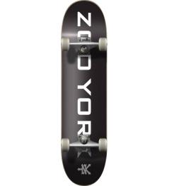 """Skateboard Zoo York OG 95 Logo Block 7.75"""" Black"""