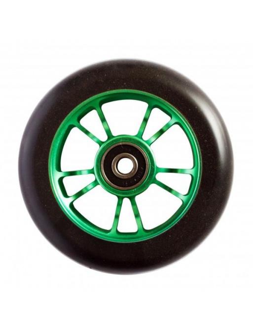 Blunt 10 Spokes 100 mm čierno zelené koliesko
