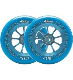 Kolečka River Glide Sapphire 110mm modré 2ks