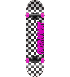 "Skateboard Speed Demons Checkers 7.75"" Pink"