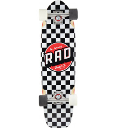 "Longboard RAD Retro Roller Cruiser 28"" Checkers"