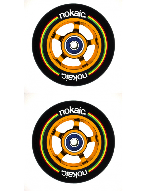 Kolečka Nokaic 100mm BLACK/GOLD 2ks