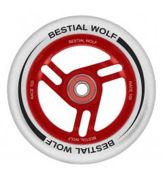 Bestial Wolf Race 100 mm koliesko bielo červené
