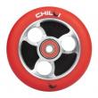 CHILLI Parabol 100 mm červeno / čierne koliesko