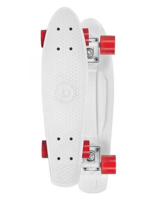 Skateboard Playlife Vinyl Board, Bílá