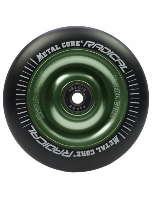 Metal Core Radical 100 mm koliesko čierno zelené