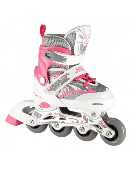 Dětské kolečkové brusle NILS Extreme NA10602 růžové