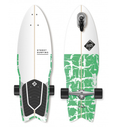 "Longboard Street Surfing SHARK ATTACK 30 ""Psycho Green"