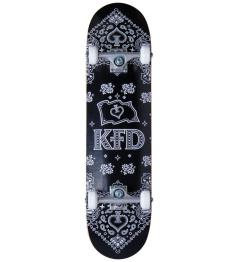 """Skateboard KFD Bandana Komplet 8"""" Černá"""