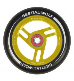 Bestial Wolf Race 100 mm koliesko čierno žlté