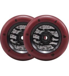 Kolečka North Signature 110x24mm Jonas Johnson Dark Red & Matte Black