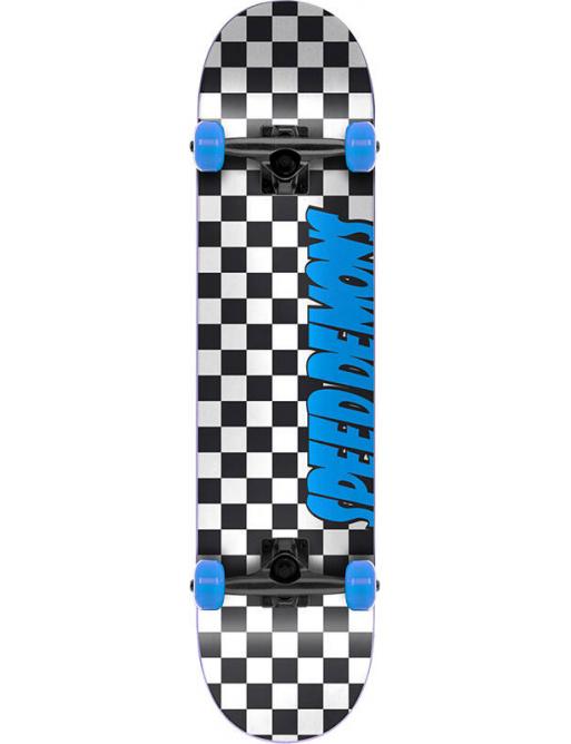 "Skateboard Speed Demons Checkers 7.25"" Blue"